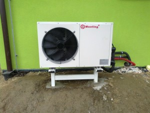 Anti-freeze cold temperature work Air to water heat pump